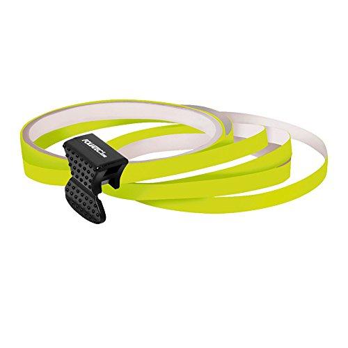 PIN Design Stripes per cerchi, B = 6 mm, incl. attrezzo di montaggio, giallo fosf. 4 strisce … 6mm x 2,15 m, 1 striscia per prova 6 mm x 40 cm