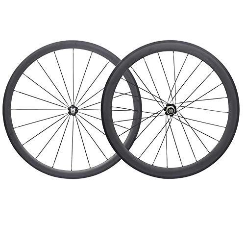 LJPW Fahrradfelgen 700C Carbon Laufradsatz Tubular 38mm * 50mm Rennrad Felgen Balance Fahrrad Radnabe -