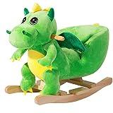 Deuba Dinosauro a Dondolo Cavallo a Dondolo Cintura di Sicurezza particolarmente Morbido Allenamento dell'equilibrio Giocattolo Bambini