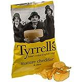 Tyrrells - Chips au cheddar et à la ciboulette - 40 g