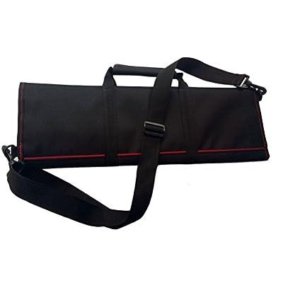 BESTOMZ Professional Chef Knife Case Knife Roll Bag Chef Bag Cutlery Holder Organizer With Shoulder Strap (Black)