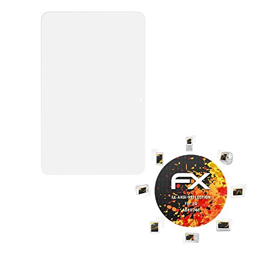 atFolix Panzerfolie kompatibel mit 3Q AC1024C Schutzfolie, entspiegelnde & stoßdämpfende FX Folie (2X)
