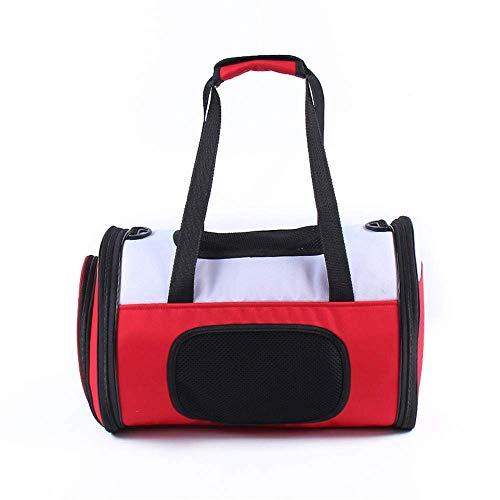BeiMI Transportbox for Haustiere/Tragbare, weiche, doppelseitige, vierseitige, atmungsaktive Netztasche for Haustiere, Kleiner Hund, Kätzchen oder Welpe, strapazierfähiger Haustierkäfig for Reisen i -