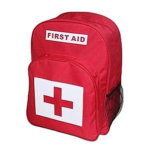 AIURBAG Rot Rucksack Zum Erste-Hilfe-Kits Pack Notfall Behandlung Und Wandern, Camping, Reisen