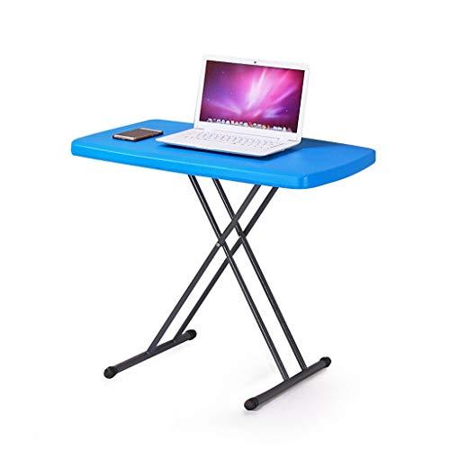 JIAQI Praktischer Multifunktionstisch Klapptisch kunststoffbett klapptisch höhenverstellbar Studie Tisch im freien Freizeit Kleiner esstisch Stilvoller und Raffinierter Lesetisch A ++ (Color : Blue)