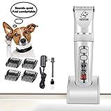 SPTHY Dog Grooming Clippers, 3-Speed   Professionali Ricaricabili A Batteria Pet Clippers & Regolatore dei Capelli Tool Kit - Indicazione LED dello Schermo di Protezione Intelligente