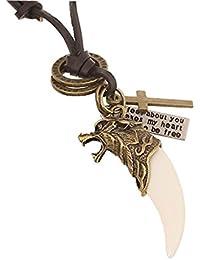 DonDon Men's Leather Necklace 50 cm 19,7