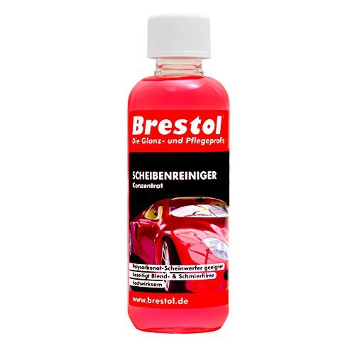 SCHEIBENREINIGER Konzentrat 300 ml (ergibt 60 Liter gebrauchsfertig) mit angenehmen Frische Duft - Waschanlagenzusatz Klarsicht Klare Sicht Insekterentferner Auto - Brestol
