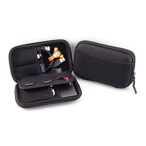 Preisvergleich Produktbild Stoßfest EVA Festplattentasche für 2,5 Zoll Festplatte und SSD HDD-Tasche mit Reißverschluss, Taschen für Zubehör Schwarz