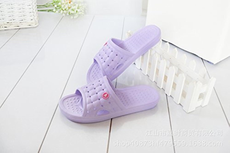 Hausschuhe Pantoffel Sommer rutschfeste Badezimmer Sandalen und Pantoffeln ultra Licht Paar einfarbig Hause komfortable