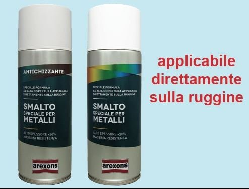 SMALTO VERNICE SPRAY AREXONS PER METALLI- NEW OPACO NERO INTENSO Art. 543626