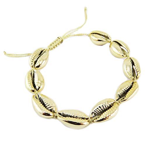 Les Trésors De Lily [Q5785 - Ethnisches Armband (GGrraaiinn ddee CCaaff) golden (Schale) -...