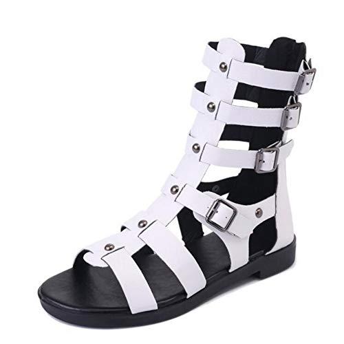 Frauen Gladiator Sandalen Retro Rom Cross Strap Wohnungen Metall Dekoration Peep Toe Pantoletten Flip Flops Outdoor Strand Schuhe