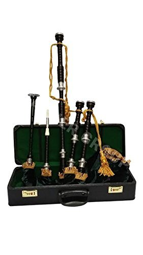 Tartan City New Schottischer Dudelsack Rosenholz Highlands Musik Instrument mit Practic Chanter mit Amazing Grace Hard Case.