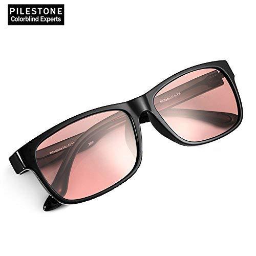 PILESTONE TP-021 farbenblinde gläser Color Blind Korrekturbrille für rote / grüne Farbenblindheit - Mildes, mäßiges und starkes Deutan und mildes, mäßiges Protan (Innenanwendung)