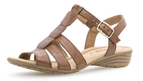 Gabor 24.558 Damen Sandalen,Keilsandalen, Frauen,Keilabsatz-Sandaletten,Keilsandaletten,Sommerschuh,flach,Best Fitting,Übergrößen,Copper,2.5 UK
