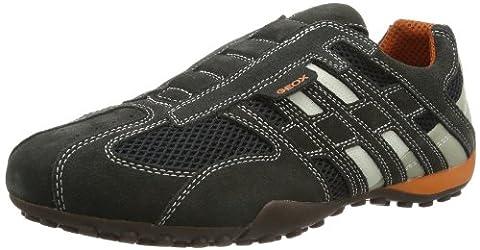 Geox UOMO SNAKE L, Herren Sneakers, Grau (DK GREY/OFF WHITEC1300), 46 EU (11 Herren UK)