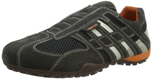 Geox Uomo Snake L, Baskets Basses homme, Gris (DK GREY/OFF WHITEC1300) , 42