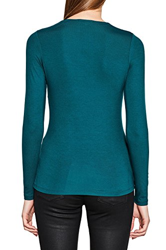 ESPRIT Collection Damen Langarmshirt Blau (Teal Blue 455)