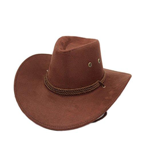 (Sommer Outdoor-Hüte/Cowboy-Hut/ Männliche und weibliche Jazzhut/ Reitkappe/Visier/Strohhut/Großer Strand Hüte-C One Size)