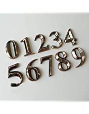 Generic 1Pc 0-9 Bronze House Numbers 5 * 3 * 0.8Cm Hotel Home Door Abs Plating Number Digits Sticker Plate Signs Address Plaque: Nu