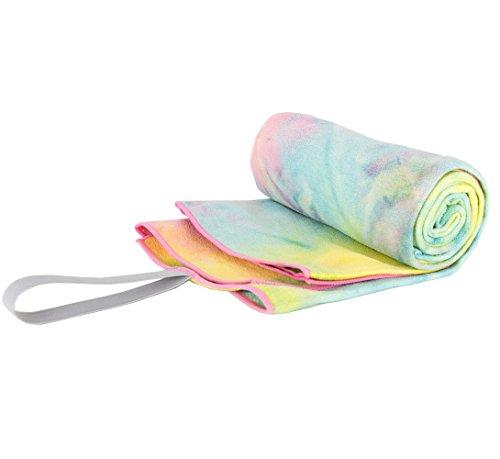 Limber Stretch Hot Yoga & Fitness Handtuch. Super saugfähig, schnell trocknend 100% Mikrofaser, perfekt für Bikram, Pilates, Strand, Pool, Camping, Reisen, 24x72 Zoll