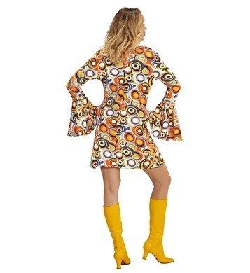 NEU Damen-Kostüm Kleid Groovy, Bubbles, Gr. (Party Jahre Siebziger Kostüm)