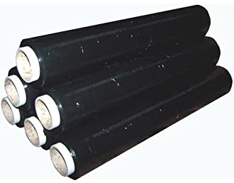 Black Heavy Duty Strong Pallet Stretch Shrink Wrap Packaging Cling Film For  Pallet 450mm X 170m X23mu
