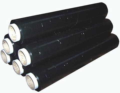 Lot de 12rouleaux de film étirable pour palettes Noir 200m x 400mm