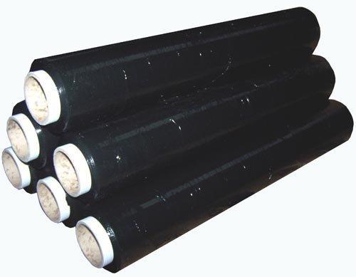 12Rollen schwarz Schrumpffolie für Paletten 200Meter, 400mm breit.