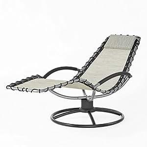 SoBuy® OGS25-MI Chaise longue Bain de soleil Transat de jardin Fauteuil détente relax