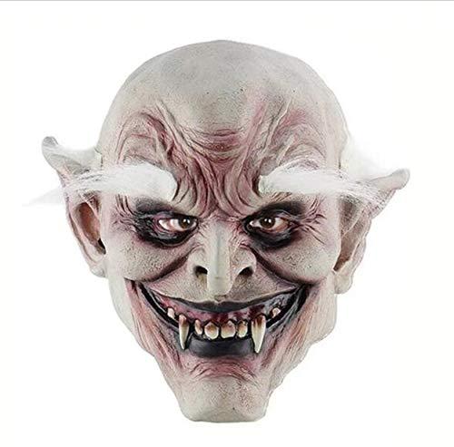 , kahle Gesichter, weiße Augenbrauen, beängstigende alte Monster, Latex-Maskerade, Rollenspiel-Requisiten, Gesichtsmaske ()