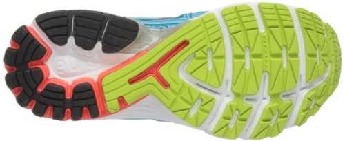 Brooks Ravenna, Chaussures de Running Entrainement Femme (Bleuefish/Fiery Coral/Green Glow)
