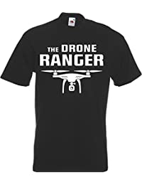 The Drone Ranger T-Shirt Quadcopter Drone Pilot Funny Gift Fly Present Mens