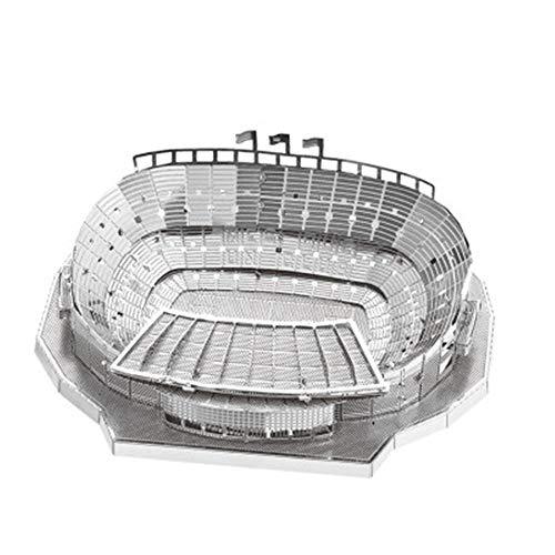 NOU Camp Fußballplatz Metall Puzzle Modell Spielzeug Kreative Kinder Geschenke DIY 3D Laser Cut Puzzle Geschenk / Silber + Werkzeug / eine Größe