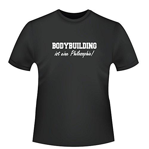 Bodybuilding ist eine Philosophie!, Herren T-Shirt - Fairtrade - ID103683 Schwarz