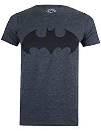 DC Comics Men's Mono Batman Dark Heather T-Shirt
