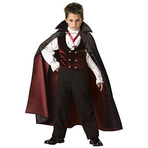 Gothic Vampir Dracula Kostüm für Kinder - Gr. 6 (110-116cm)