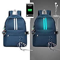shaoyanger Fashion Anti Theft Reflective Women Backpack USB Charge Earphone Hole School Bags Girls Travel Laptop Bagpack Bookbags
