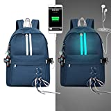 Die besten Laptop Rucksäcke für Hochschulen - LLAni Mode Diebstahl Reflektierende Frauen Rucksack USB Charge Bewertungen