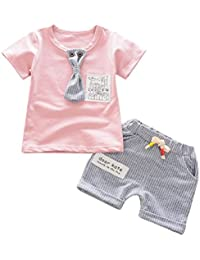 Logobeing Ropa Bebe Niña Verano Recien Nacido Bebé Pequeños Camiseta de  Manga Corta y Conjunto de df0e5df43e3