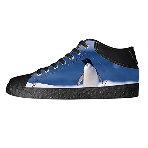 Custom Pingouin Mens Canvas Shoes Chaussures Lace Up High Top pour Sneakers Toile Chaussures de chaussures de toile chaussures de sport A