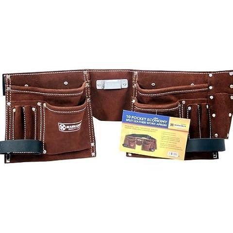 10 bolsillos portaherramientas de piel cinturón POUCHE