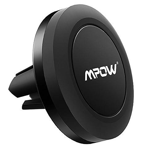 Support de téléphone de voiture, Mpow Grip magnétique support téléphone Voiture Grille d'aération support voiture universel support de voiture cradle pour iPhone 766Plus 5Nexus 7Huawei P9LG Sony Samsung S7S6Note 54et autres téléphones portables (Noir)