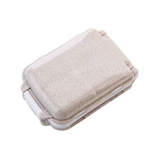 Meisijia Wöchentliche Mini-Vitamin-Pille Tablette-Kasten-Organisator-Spielraum-bewegliche Pille Aufbewahrungsbox Fall 7 Gitter-Süßigkeit-Kasten -