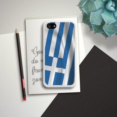 Apple iPhone 5s Housse étui coque protection Grèce Drapeau Grèce Housse en silicone blanc