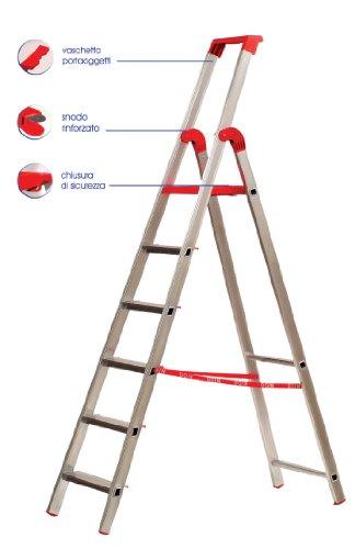 Homegarden scala professionale alluminio 7 gradini