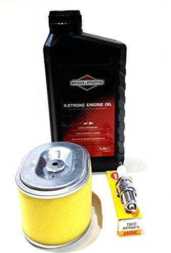 Qualité Honda, GX140 GX160 & GX200 kit de service, Briggs & Stratton Huile, NGK Plug