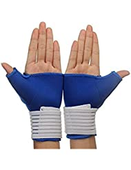 honeysuck Elastic Thumb Wrap Wrist Palm Supports Sport Guantes Azul
