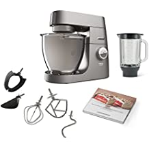 Kenwood Chef XL Titanium KVL8320S Küchenmaschine (1700 W, 6,7 L Füllmenge, 5-teiliges Patisserie-Set, 1,6 L ThermoResist Glas-Mixaufsatz, Rührschüssel-Innenbeleuchtung)